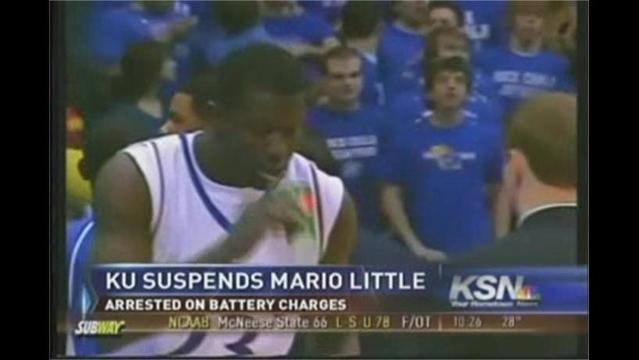 KU's Little Suspended After Arrest