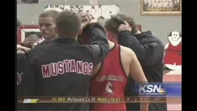 McDonald County Wrestling Ends Home Schedule in Style