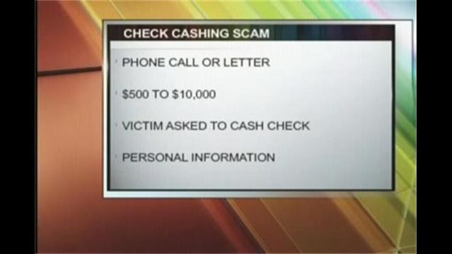 Lawrence County Check Cashing Scam