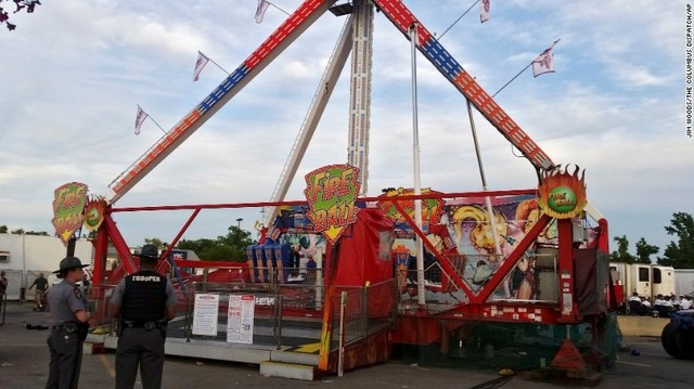 OH state fair ride malfunctions, killing one and injuring seven