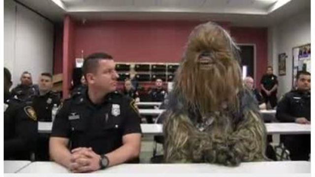 Star Wars' Chewbacca joins the Fort Worth, Texas Police Department
