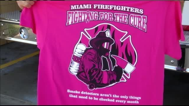 44ea06cc1c35 Miami FD sell pink shirts for breast cancer awareness